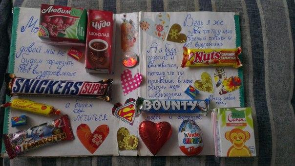 Подарок папе на день рождения из шоколадок 14