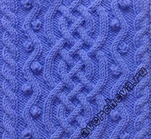вязание спицы узор ажур