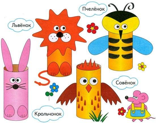 Игрушки из картона и бумаги своими руками для детей