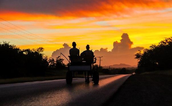 Кубинский закат. Автор фото — Алексей Самойленко: Доброй ночи!