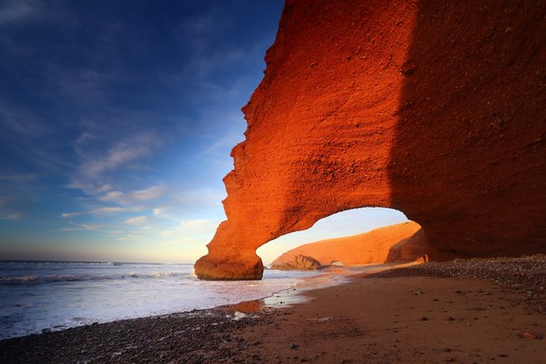 Арки пляжа Легзира на побережье Атлантического океана, Марокко. Автор фото — Алексей Писарев