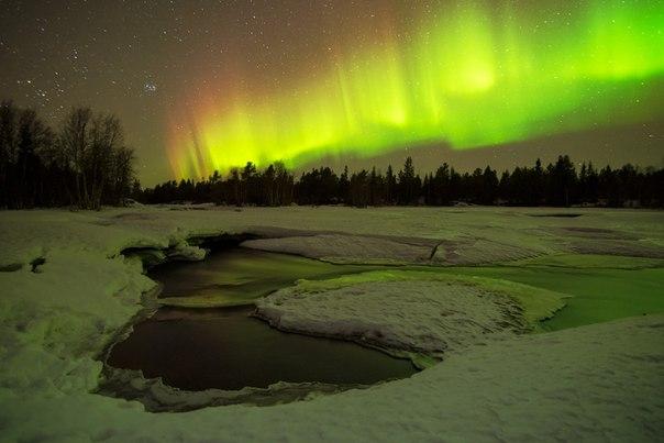 Ночь на реке Поньгома, Карелия. Автор фото — © Иван Дементиевский: Доброй ночи.  |  National Geographic Россия