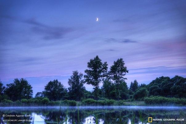 Летний вечер на озере Юбилейном в городе Рошаль. Автор фото — Адриан Олейник, участник фотоконкурса «Наше Подмосковье»: Доброй ночи!