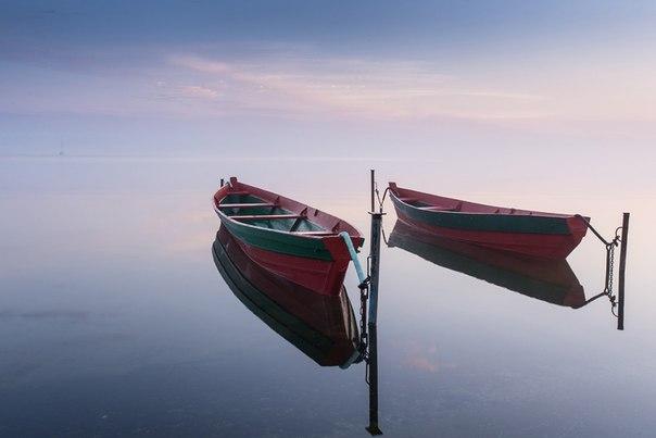 Утро на Плещеевом озере, Переславль-Залесский. Автор фото — Григорий Баринов