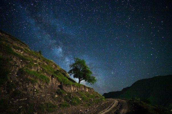 Звездная ночь на Кавказе, Дагестан. Автор фото — Магомед Шапиев: Добрых снов!