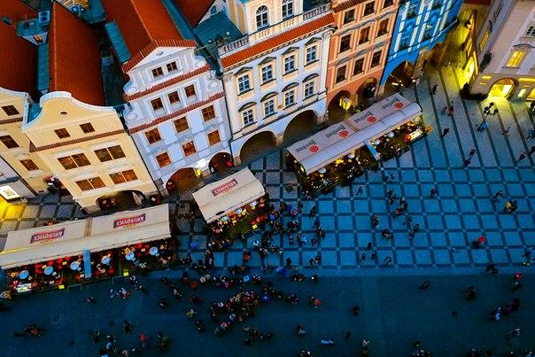 «Вид сверху». Вечерняя Прага. Автор фото — Юлия Козлова