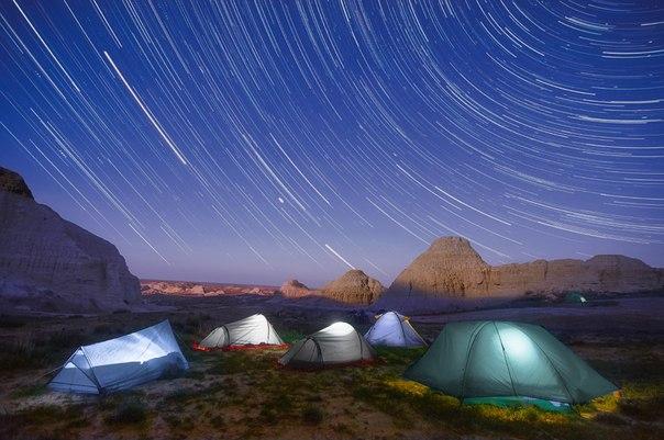 Урочище Киин-Кериш в Казахстане — место с марсианскими пейзажами, известное также как «Город духов». Автор фото — Анна Аникина: Доброй ночи!