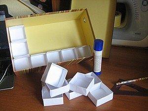 Как сделать коробочку для разных мелочей из старой коробки для обуви…. (9 фото) - картинка