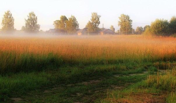 Утро в селе Пищалье, Кировская область. Фотограф: Олег Опарин.