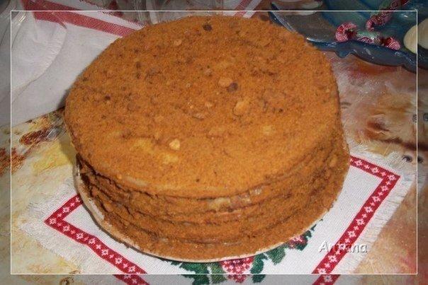 Рецепт медовика с заварным кремом рецепт с фото пошагово