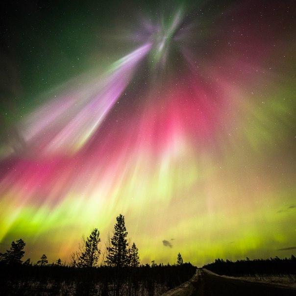 Полярное сияние в ночь 18 марта, Мурманская область. Автор фото: Иван Орлов. Спокойной ночи!