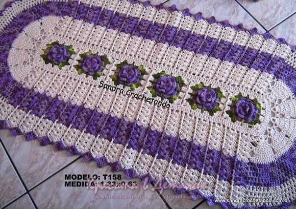 Delicadezas en crochet gabriela alfombras dos modelos en for Modelos de alfombras