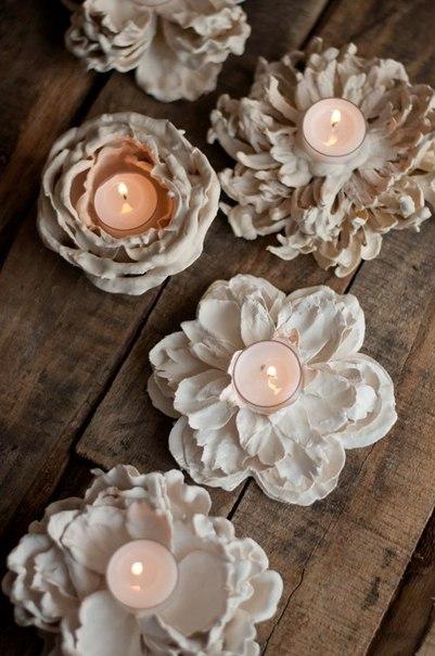Оригинальные подсвечники в виде цветов… (10 фото) - картинка
