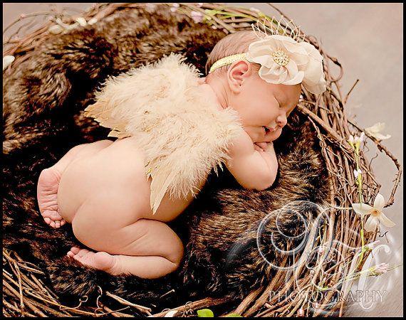 Как сделать младенца на крыльях ангела