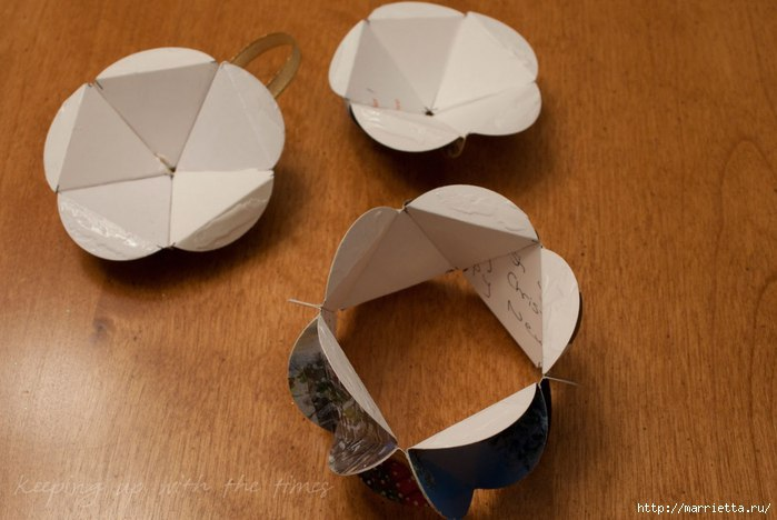 Как сделать шар из картона своими руками схема
