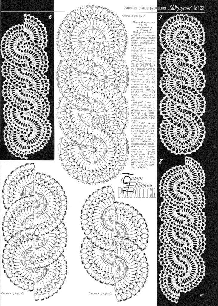 Схемы ленточного кружева