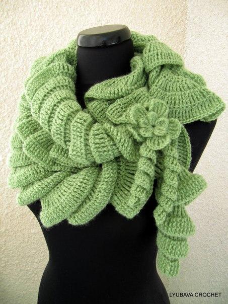 Спиральный шарф.
