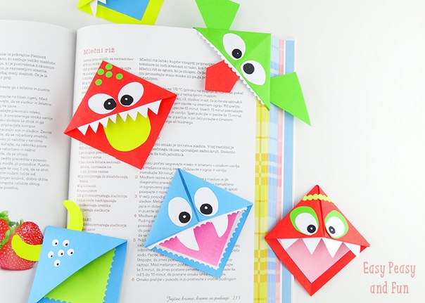 Как сделать бумажные закладки