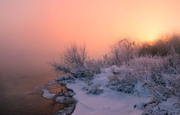 Туманное утро на реке Исеть, Свердловская область. Автор фото: Евгений Тюрин.