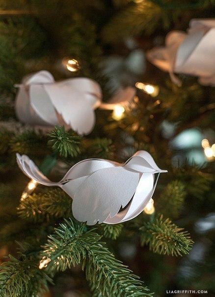 Восхитительные птички из бумаги + шаблон