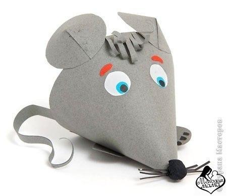 Как с картона сделать мышку