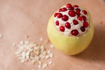 Яблоки, запечённые с овсянкой и творогом… (1 фото) - картинка