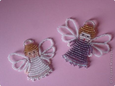 Ангелочки из бисера