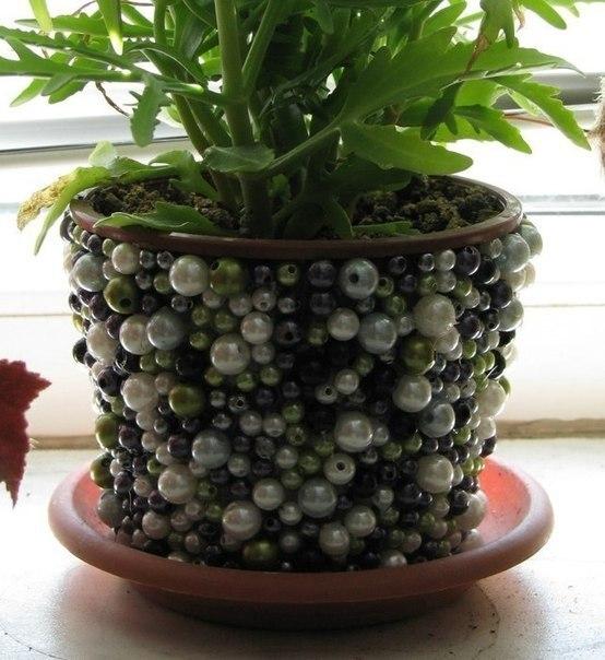 Декор цветочного горшка своими руками…. (6 фото) - картинка