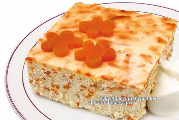 Рецепт запеканки с творогом и морковкой