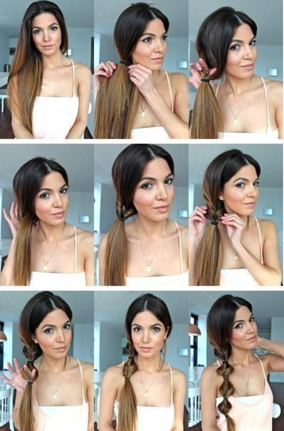 учимся делать причёски.