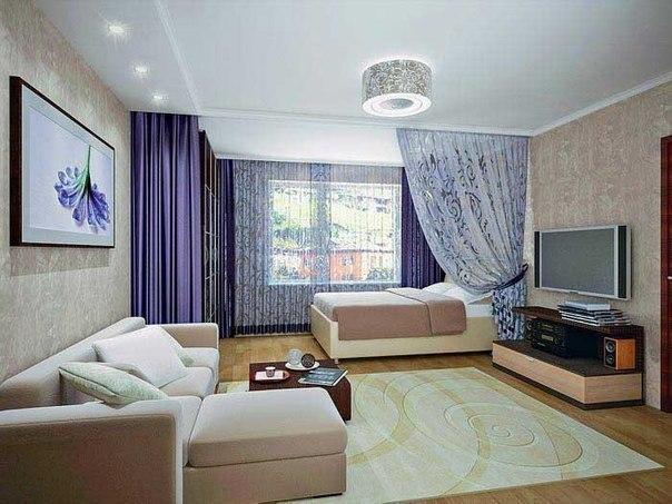 Спальня в гостиной фото