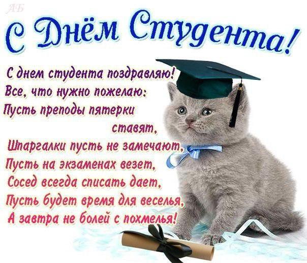 Поздравление студенту в картинках