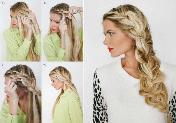 Как сделать себе косу на бок