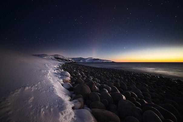 Побережье Баренцева моря, Кольский полуостров, Россия