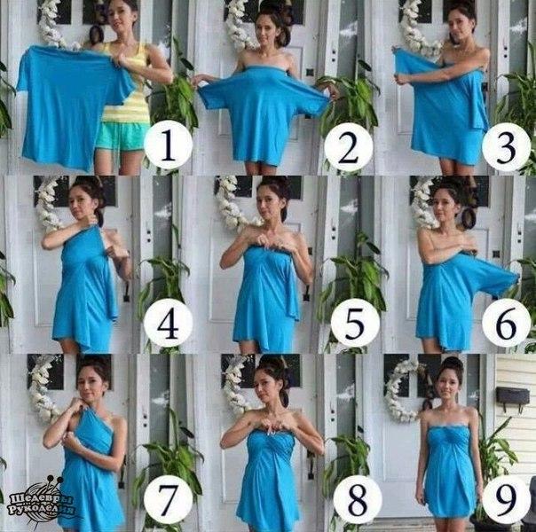 Платье из футболки (1 фото) - картинка