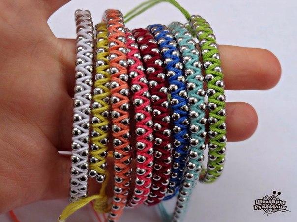 Плетем оригинальный браслет (8 фото) - картинка