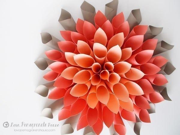 Как сделать объёмный цветок своими руками