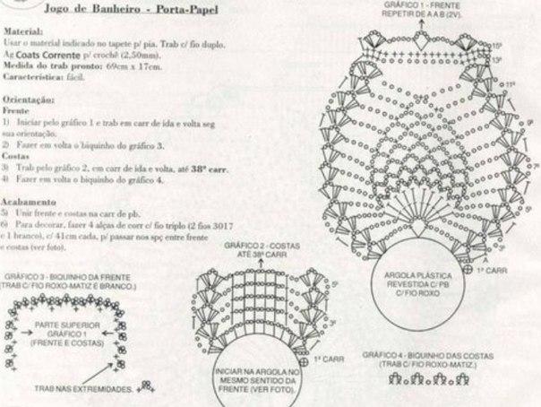 Set De Baño A Crochet Paso A Paso:Juegos para el baño paso a paso – Imagui