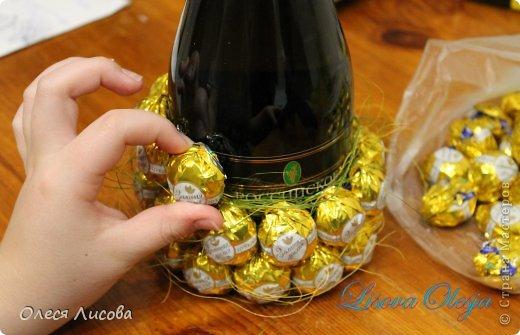 Ананас из конфет и шампанского своими руками мастер класс фото