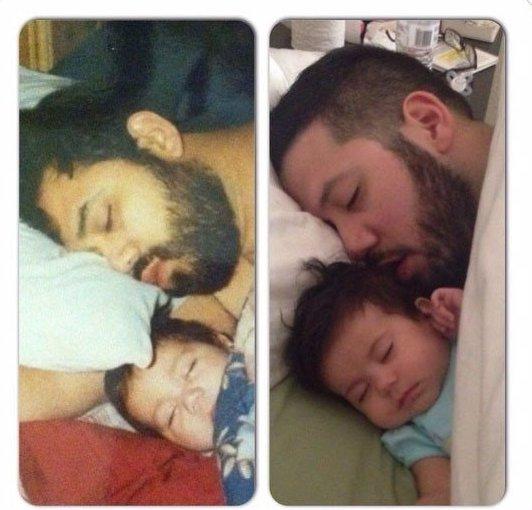 """""""Слева мой муж и его отец, справа мой муж и наш ребенок"""""""