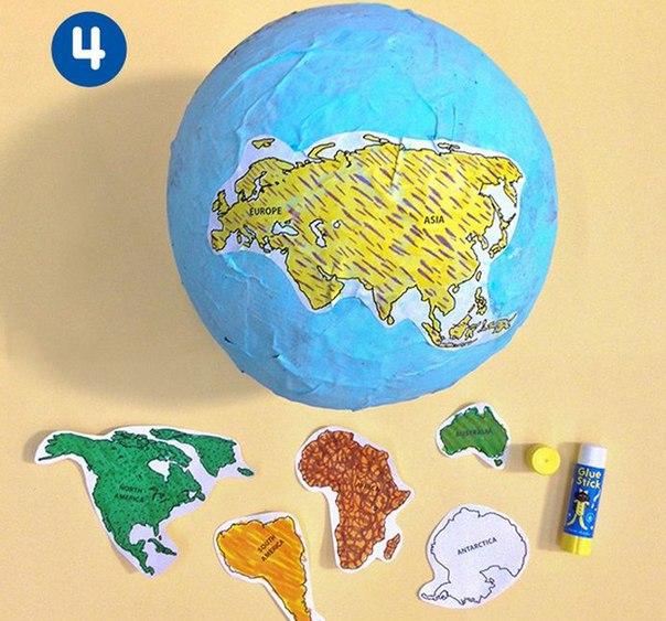 Как сделать макет земли видео уроки