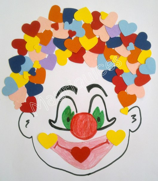 Как сделать поделку клоуна из бумаги