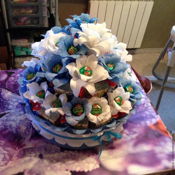 Торт из конфет и сока с сюрпризом  Автор: Татьяна Павлова