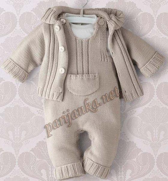 Вязаный комплект для малыша (3 фото) - картинка