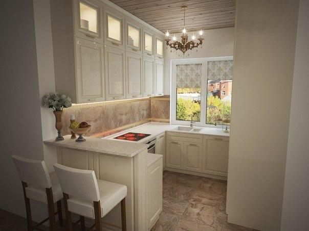 Аккуратная маленькая кухня (2 фото) - картинка