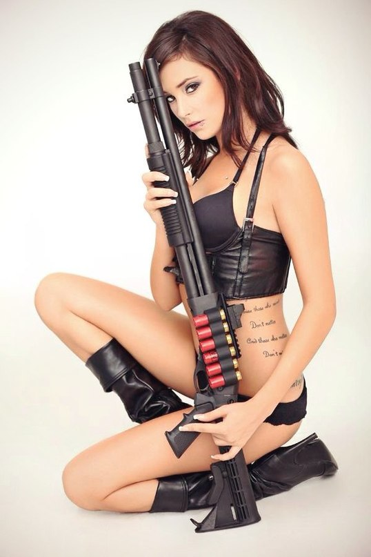 nude-asian-women-with-gun