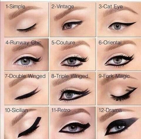 Как можно накрасить стрелки на глазах