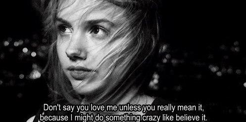 ты говоришь меня не любишь: