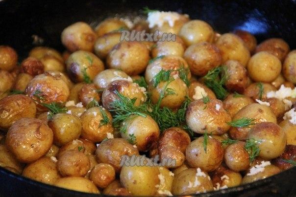 Мелкий картофель в духовке рецепт с фото