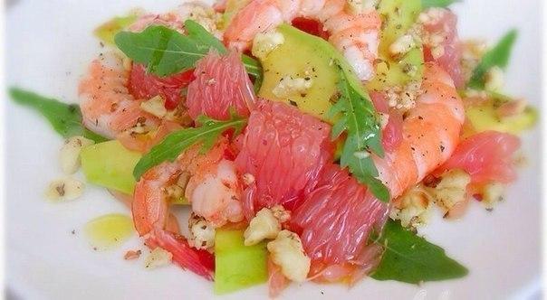 Салат с грейпфрутом фото